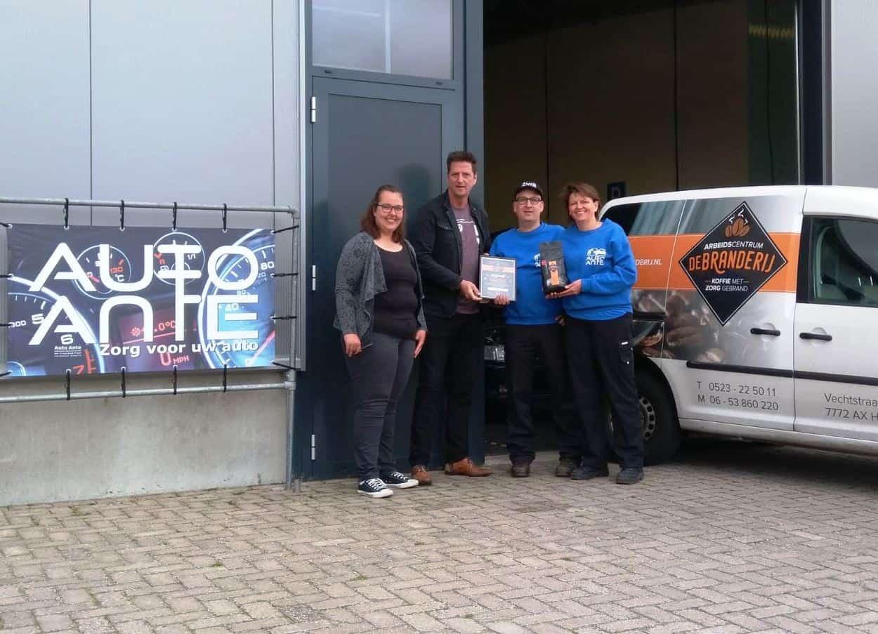 Uitreiking certificaat Auto Ante MVO