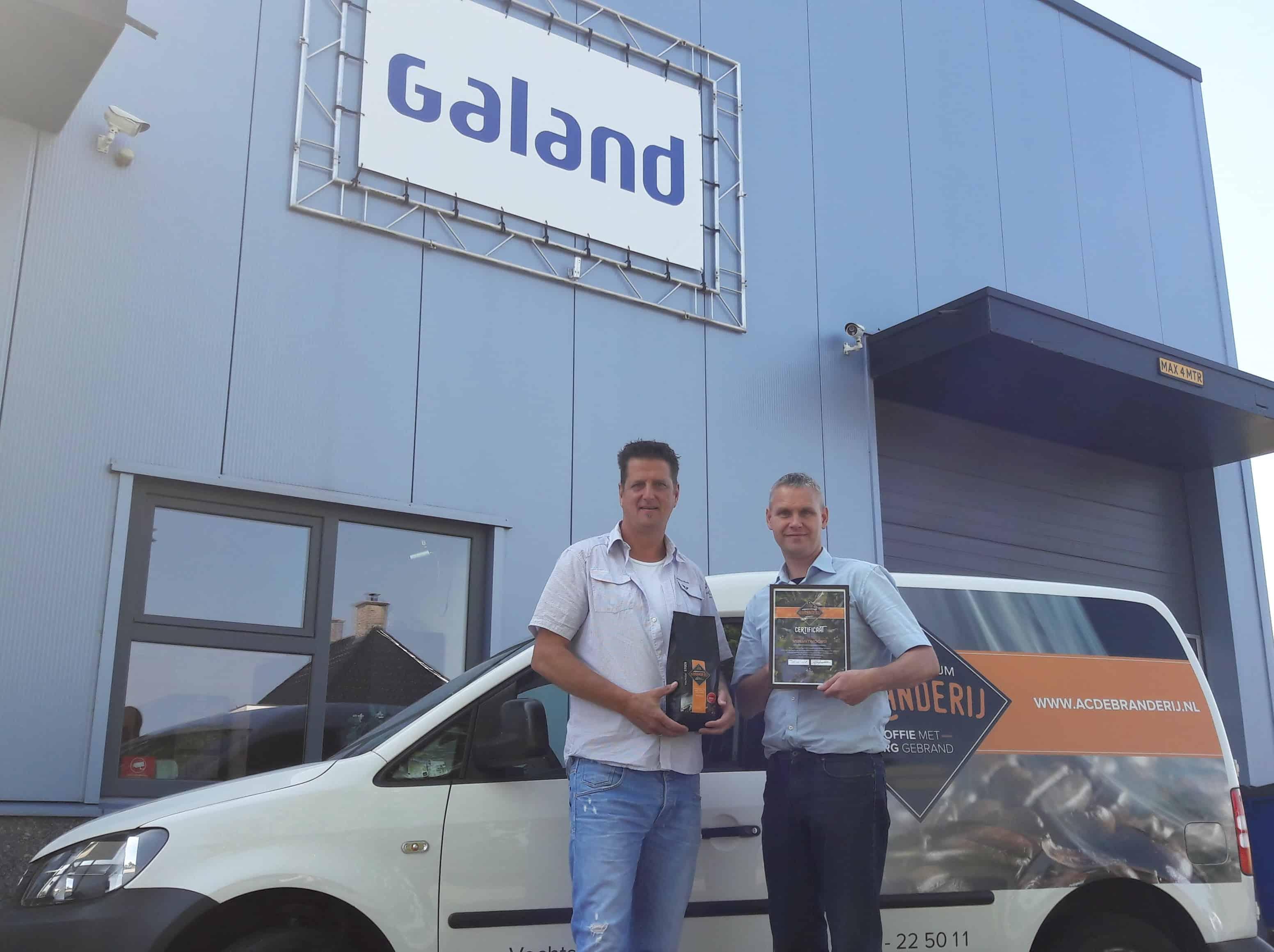 Branderij certificaat voor Galand BV MVO