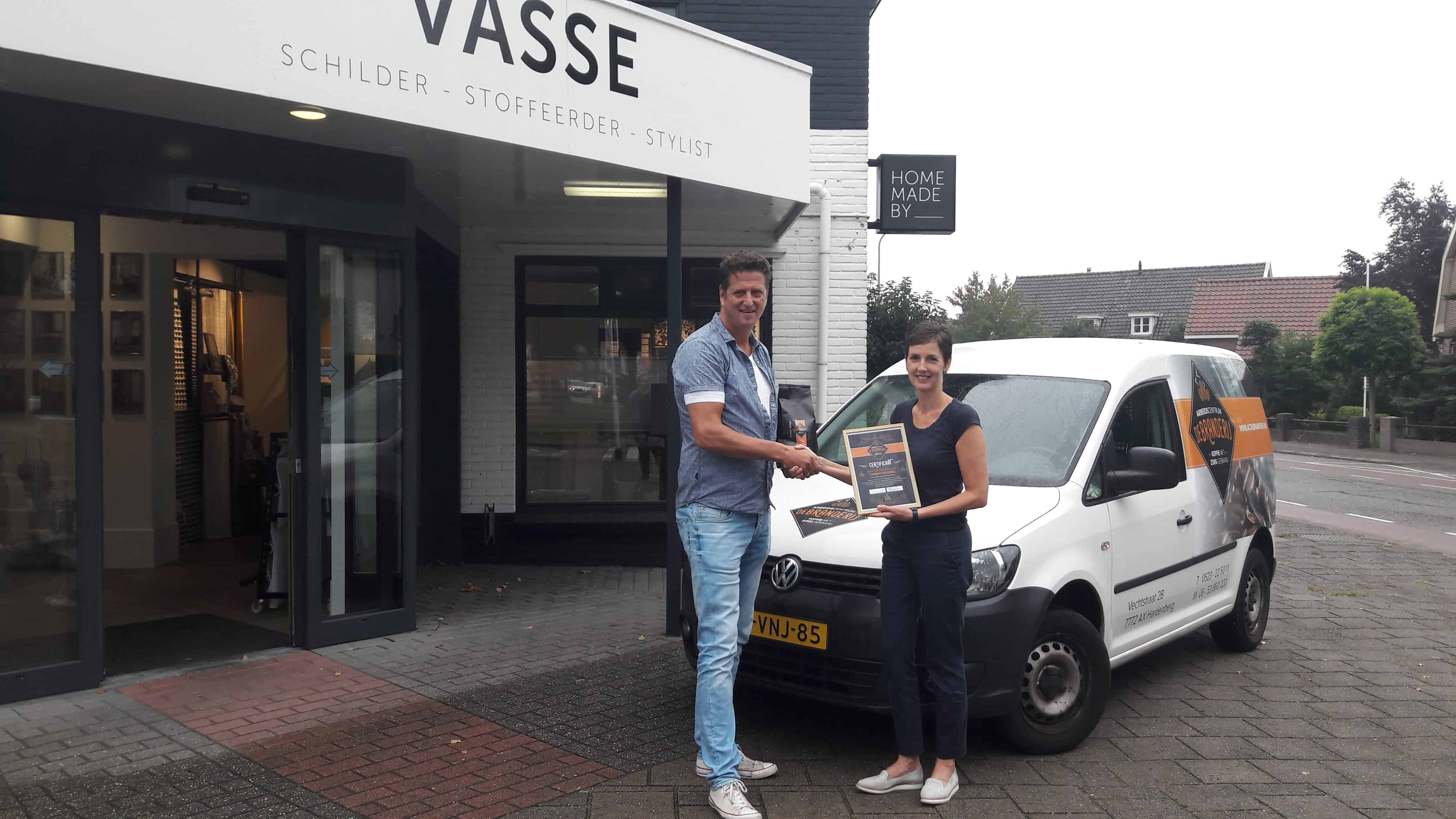 Branderij Certificaat voor Home Made By Vasse