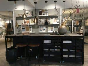 Collectietafel met moodboards