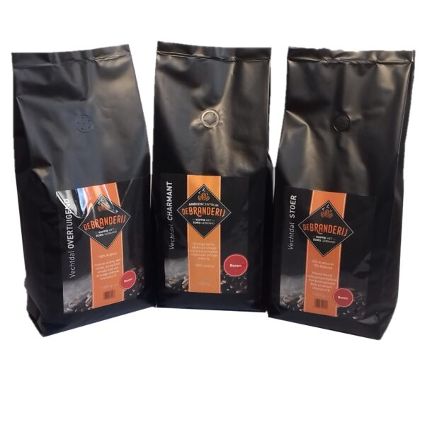 Vechtdal proefpakket koffie bonen filtermaling